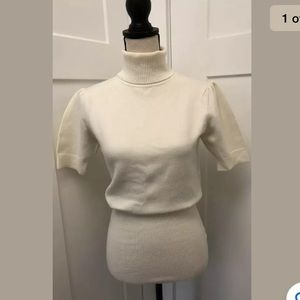 French Connection Short Slv Turleneck Sweater  M